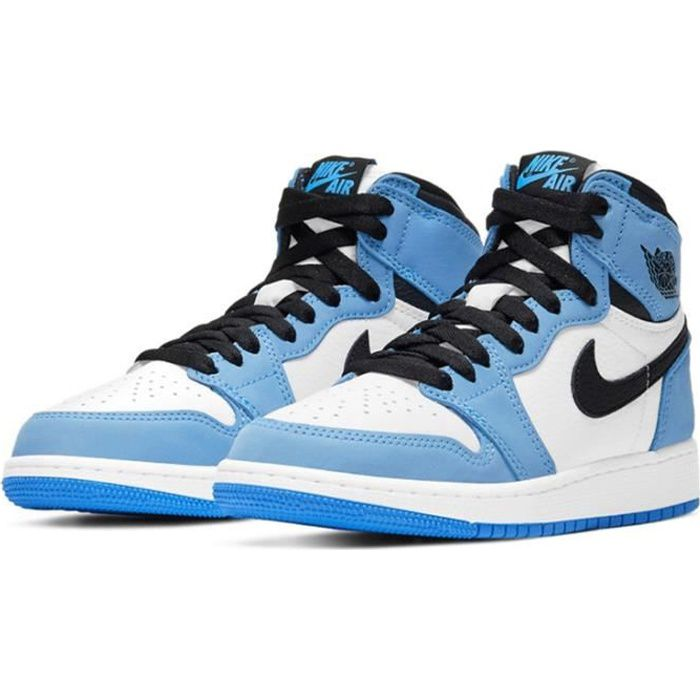 Air Jordan 1 Retro High OG -University Blue- Chaussure de Sport AJ 1 Pas Cher pour Homme Femme