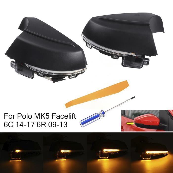 NEUFU LED Clignotant Rétroviseur Dynamique Pour VW Polo MK5 Facelift 6C 14-17 6R 09-13