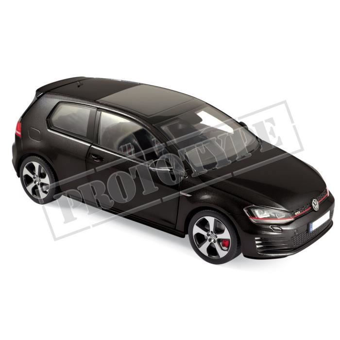 Véhicule Miniature assemble - Volkswagen Golf GTI Noir 2013 1-18 Norev