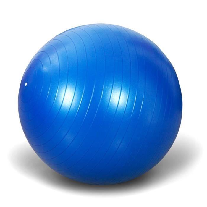 Balle de yoga anti-déflagrante épaissie en PVC 65 cm, ballon de fitness, articles de sport, bleu, 65 cm