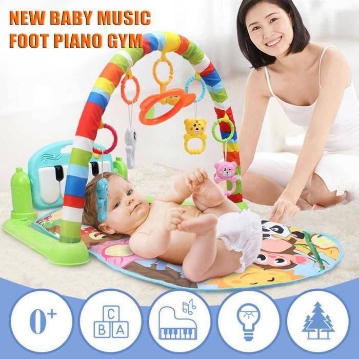 Nouveau-né bébé TAPIS D'EVEIL DE JEU couverture tapis avec musique Piano pédale fitness Hippopotame Vert régulier
