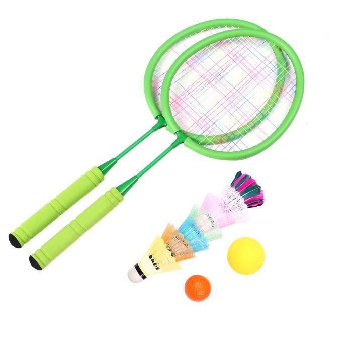 1 Set Badminton Raquette Vert Portable Amateur Loisirs Jouets Sports de Plein Air RAQUETTE DE BADMINTON - CADRE DE BADMINTON