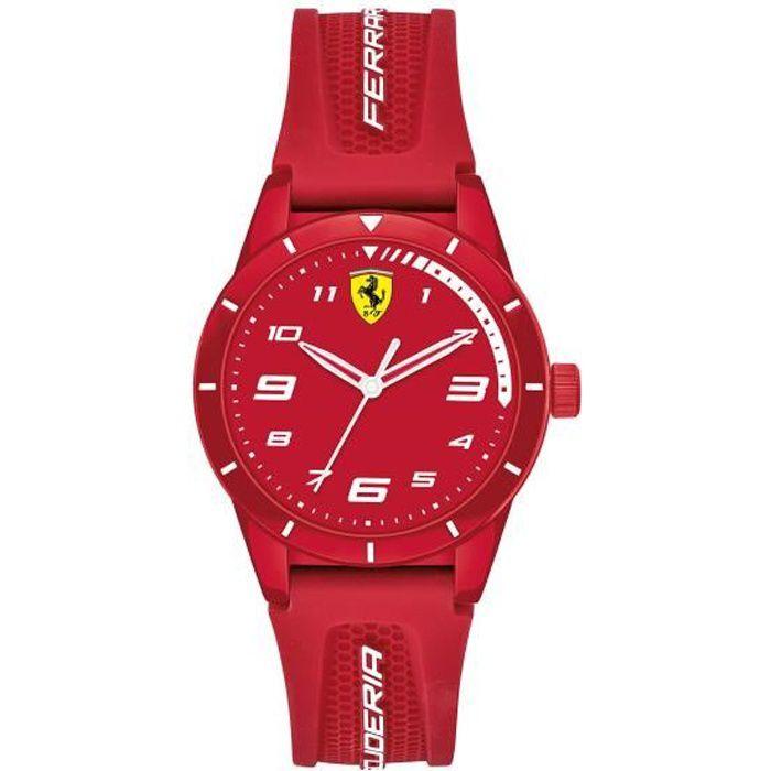 Scuderia Ferrari Unisexe, Enfant Analogique Quartz Montre avec Bracelet en Silicone 0860010