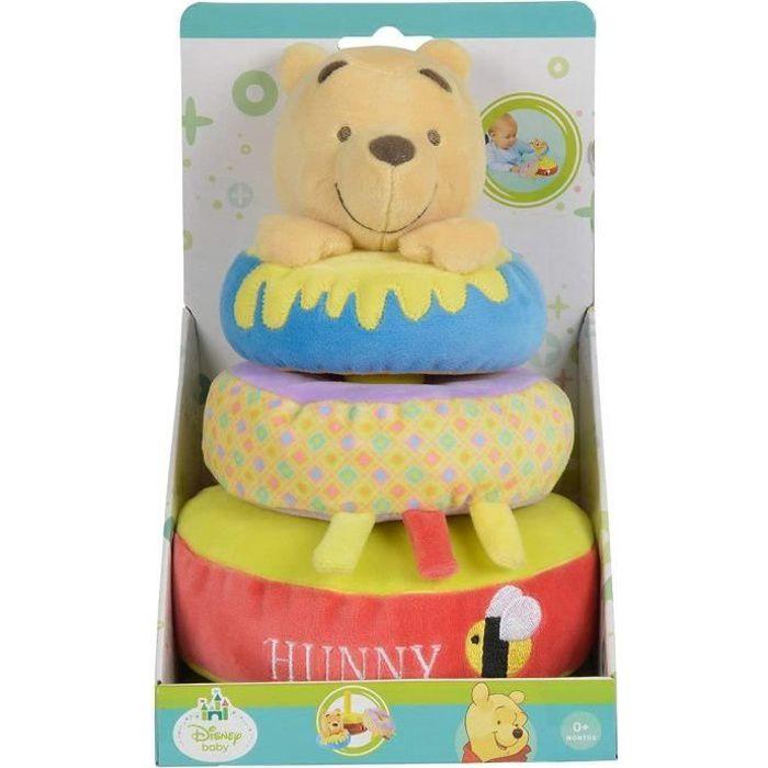 Disney baby peluche jeu d'éveil Winnie l'ourson 3 anneaux d'empilement
