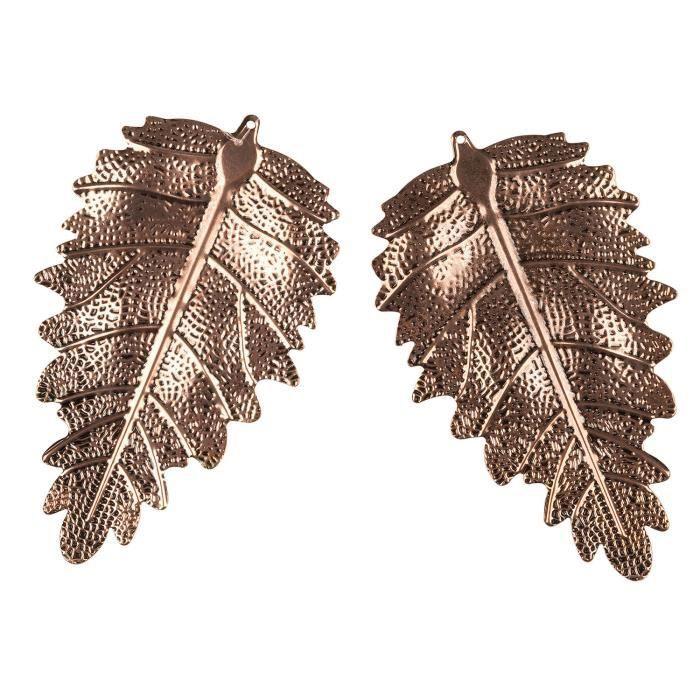 2 X Breloques attachées à un ruban comme cadeau pour décoration en feuille de cuivre suspendue de TRIXES