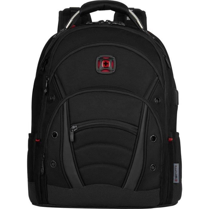 Sac à dos pour ordinateur portable Wenger Synergy Deluxe 606491 maxi.: 39,6 cm (15,6) noir 1 pc(s)