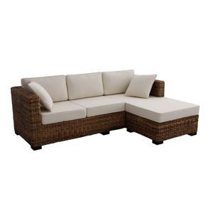 canape meridienne acajou achat vente canap sofa divan tissu 100 coton cdiscount. Black Bedroom Furniture Sets. Home Design Ideas
