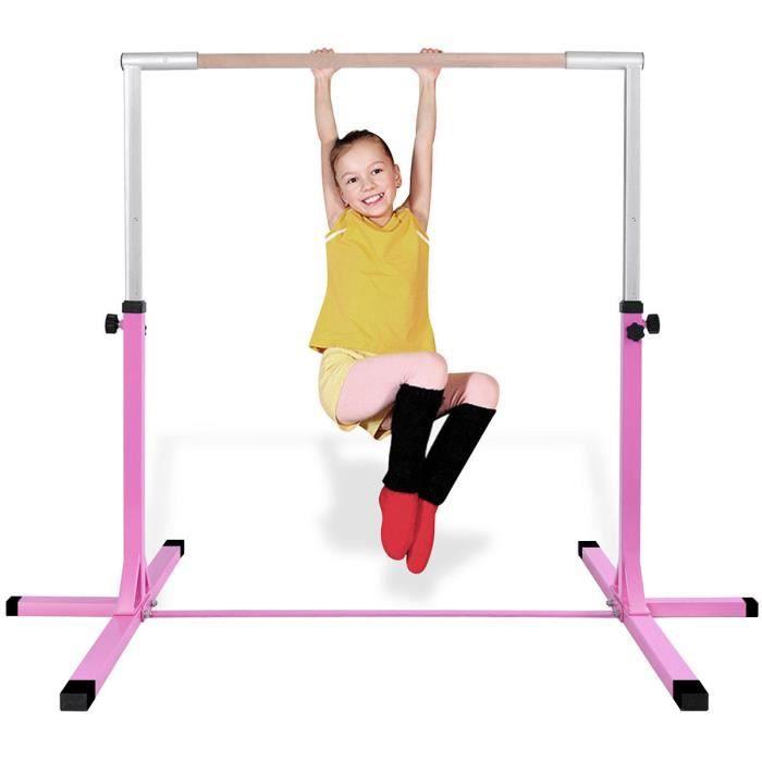 WUPYI2018 Barre Gymnastique pour Enfants,Hauteur r/églable,Charge maximale 100kg,/Équipement dentra/înement pour Le Ballet de Gymnastique