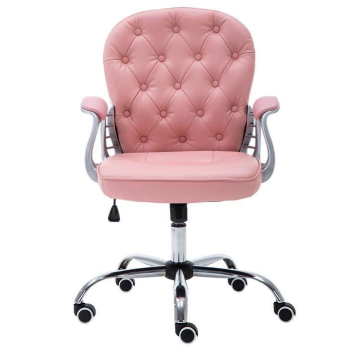 fauteuil de bureau rose  chaise de bureau  moelleux et