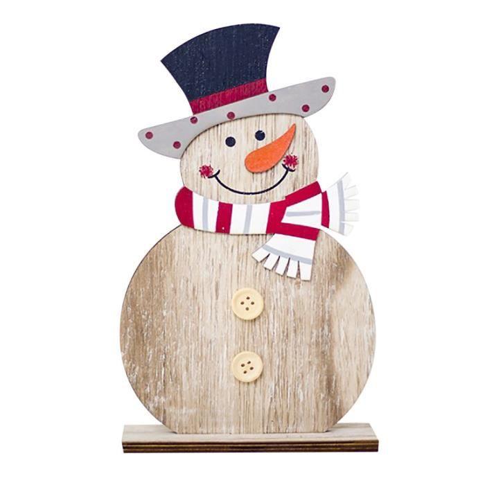 Bonhomme de neige Décorations de Noël en bois Ornements Formes Artisanat  Cadeaux de Noël zo4956