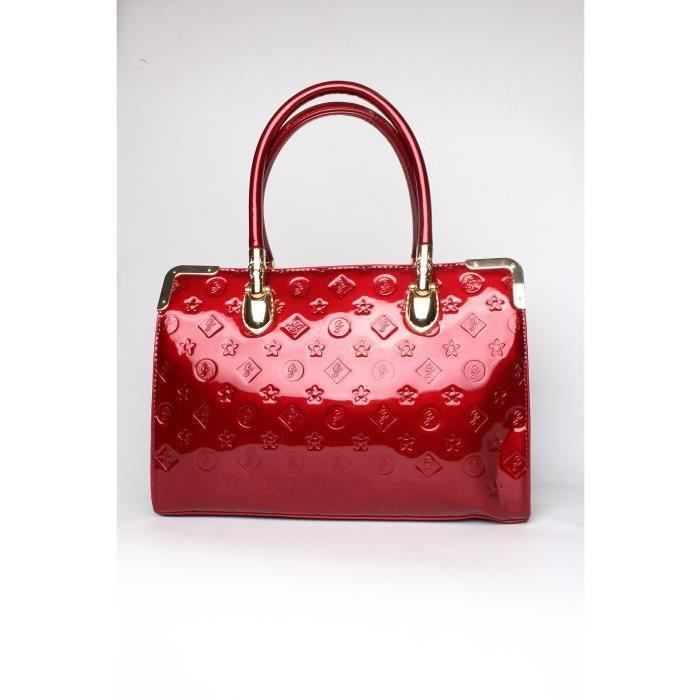 SAC A MAIN FEMME VERNIS ROUGE GALLANTRY