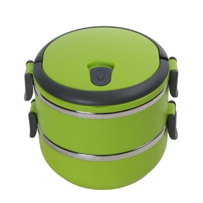 hengli lunch box isotherme 1 4 l boite repas chauffante vert achat vente lunch box bento. Black Bedroom Furniture Sets. Home Design Ideas