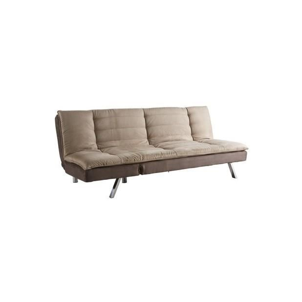 sofa clic clac amare taupe beige achat vente clic clac cdiscount. Black Bedroom Furniture Sets. Home Design Ideas