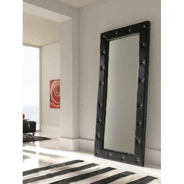 grand miroir mod le e 95 noir achat vente miroir pu cdiscount. Black Bedroom Furniture Sets. Home Design Ideas