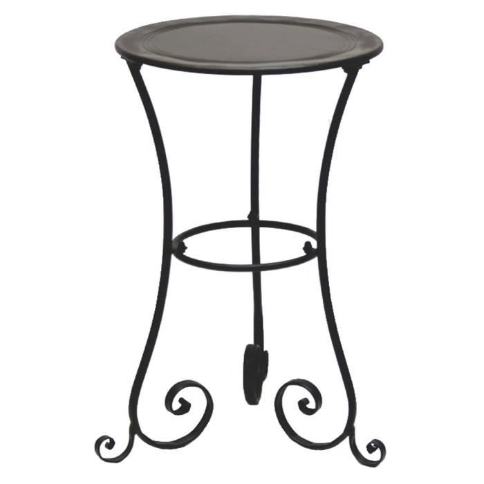 Gueridon table fer forge charme achat vente console for Table d appoint fer forge