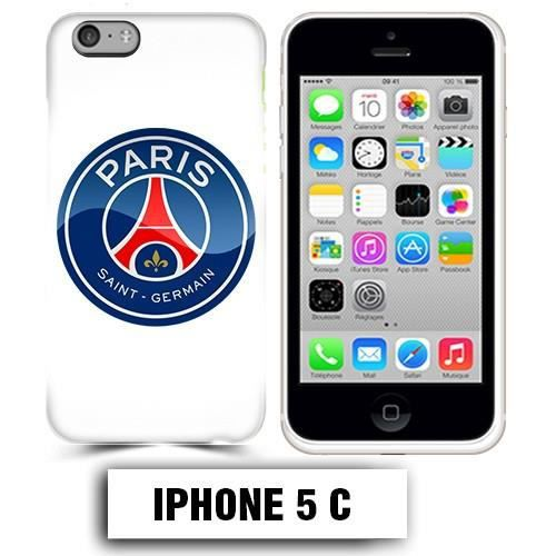 coque iphone 5c foot psg logo club paris