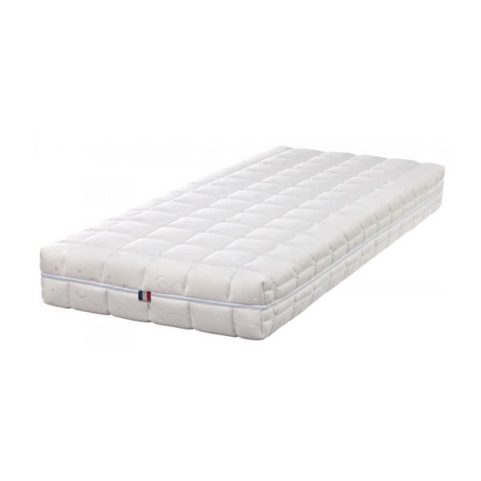 matelas pour literie lectrique latex naturel 80 kg m3 dehoussable hauteur 21 cm soutien. Black Bedroom Furniture Sets. Home Design Ideas
