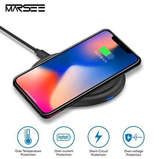 CHARGEUR TÉLÉPHONE Chargeur Sans Fil Rapide Pour Samsung Galaxy S9 -