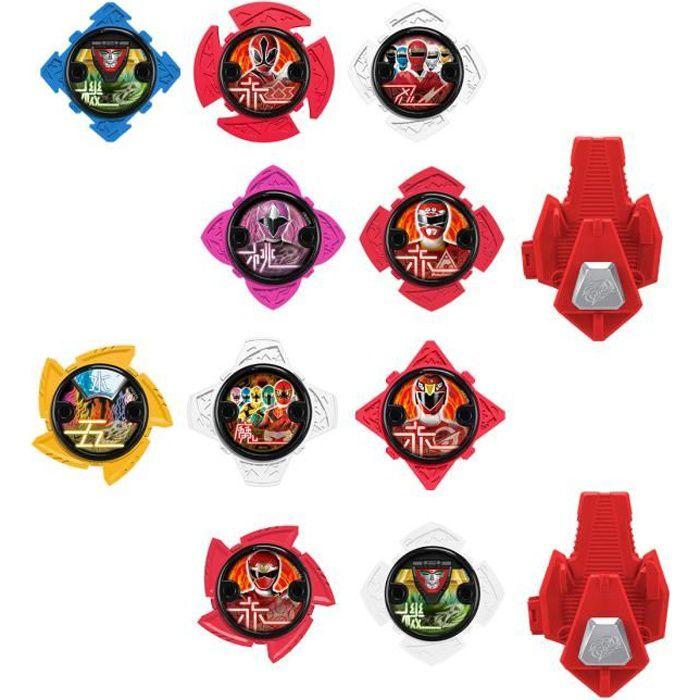 Power Ranger Ninja acier lion feu morpher plus Ninja Stars et 4x Figures NEW