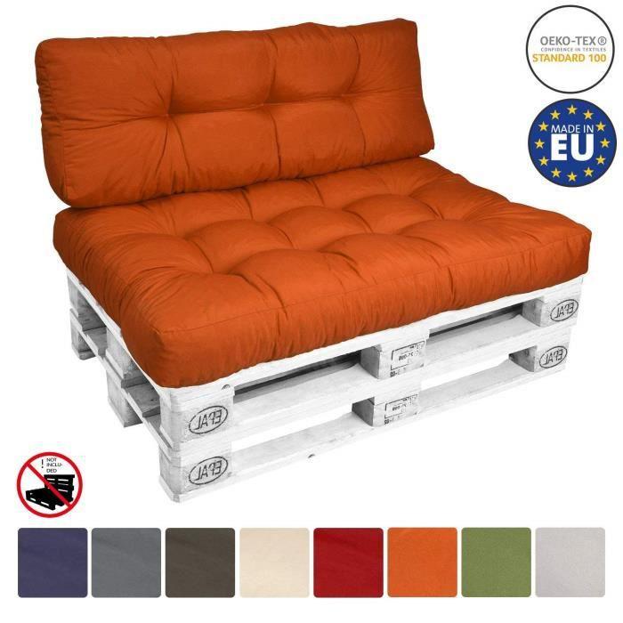 COUSSIN D'EXTÉRIEUR Beautissu ECO Style Coussins 120x40x15 cm - Orange