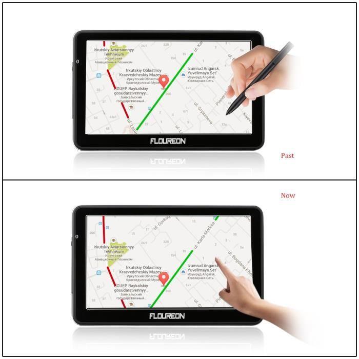 GPS AUTO RECONDITIONNÉ FLOUREON GPS navigation à vie -7 pouces - Ecran ta