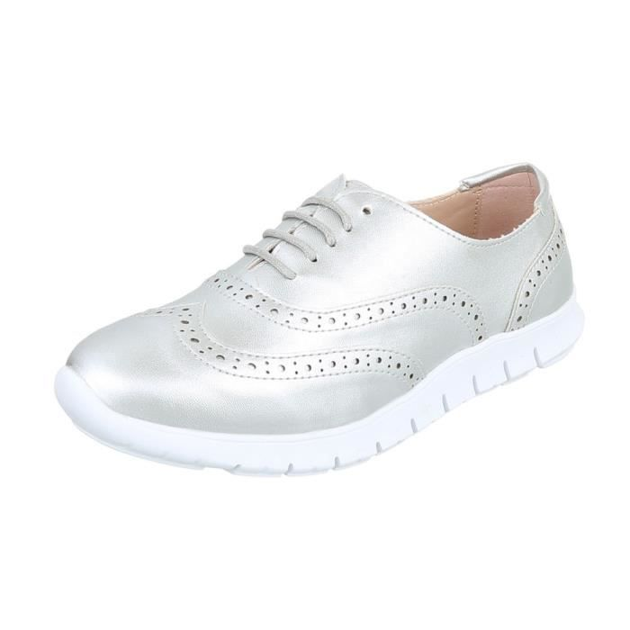Chaussures femme chaussures sportlaceter Sneakers argent gris 41 bfjFAG2WP