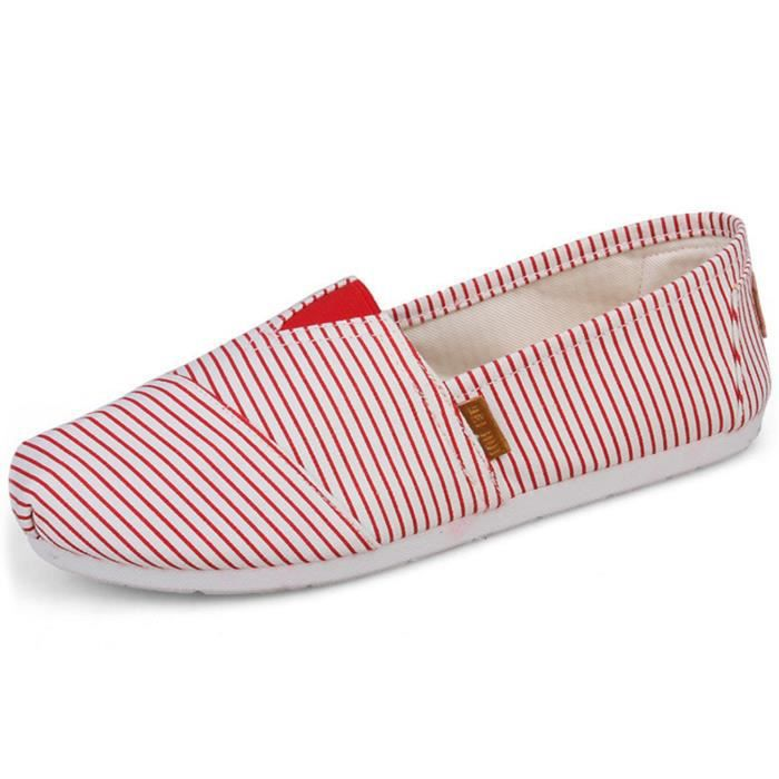 Comfort Flat Shoes For And Women, Classic Casual Canvas Slip On Flats ESW46 Taille-36