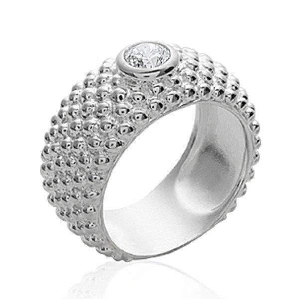 BAGUE - ANNEAU Bague anneau femme - argent massif 925 rhodié - fi