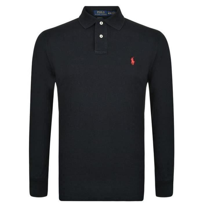 Polo Ralph Lauren manches longues Noir Noir
