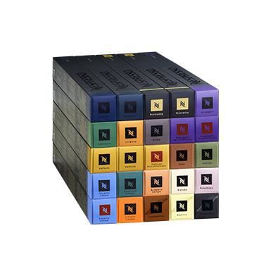 nespresso coffret d couverte 250 capsules achat. Black Bedroom Furniture Sets. Home Design Ideas
