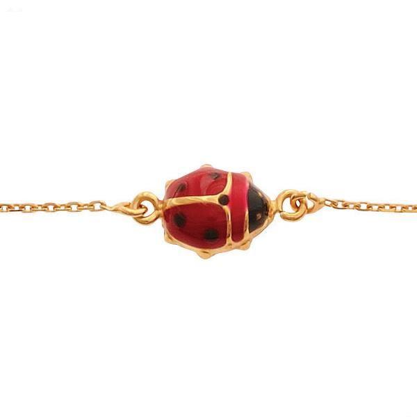 Bracelet Enfant coccinelle Or Jaune 9 Carats