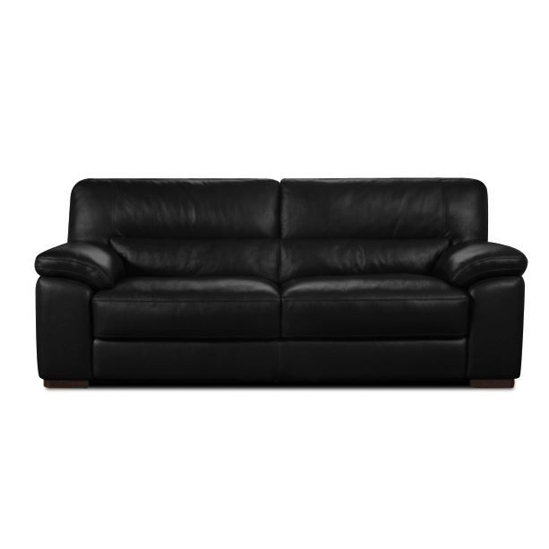 canap en cuir dallas noir achat vente canap sofa divan cdiscount. Black Bedroom Furniture Sets. Home Design Ideas