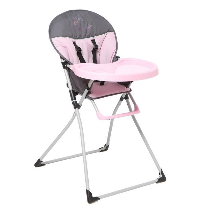 tendre a croquer chaise haute mc baby rose achat vente chaise haute 3606501154692 cdiscount. Black Bedroom Furniture Sets. Home Design Ideas
