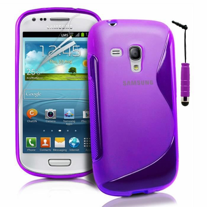 coque gel samsung galaxy s3 iii mini i8190 violet achat. Black Bedroom Furniture Sets. Home Design Ideas