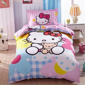 drap housse hello kitty achat vente drap housse hello kitty pas cher cdiscount. Black Bedroom Furniture Sets. Home Design Ideas