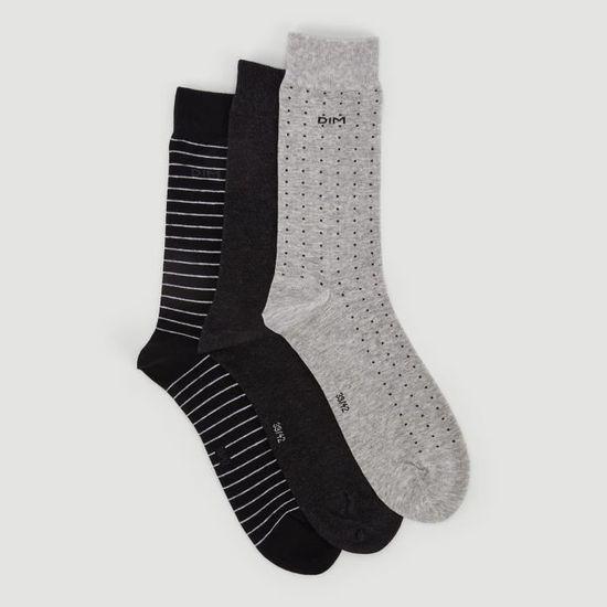 Réduction pour bébé garçon fille pack de 3 gris beige à rayures pois anti-dérapant chaussettes