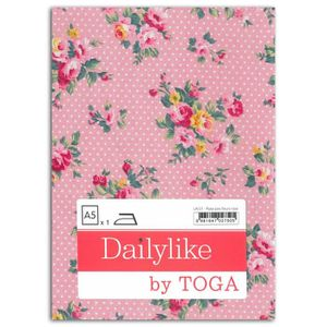 Dailylike Tissu thermocollant A5 - rose pois fleurs