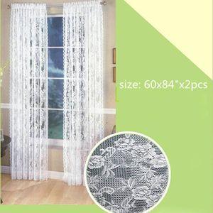 RIDEAU Fenêtre Porte dentelle Rideau Chambre Drapé Pannea
