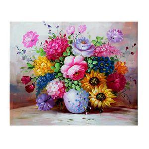 Peinture à l'huile Fleurs broderie peinture