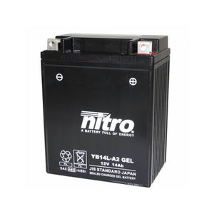 BATTERIE VÉHICULE Batterie 12v 14ah yb14l-a2 gel nitro sans entretie
