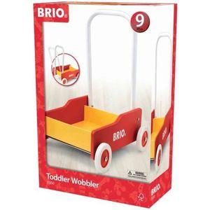 PORTEUR - POUSSEUR BRIO - 31350 - Chariot De Marche - Rouge & Jaune