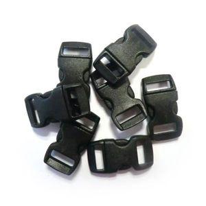 APPRÊTS  100 fermoirs clips plastique (idéal Créacord) 3cm
