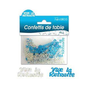 CONFETTIS 3 SACHETS CONFETTIS DE TABLE VIVE LA RETRAITE BLEU