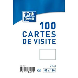 OXFORD 100 Cartes De Visite