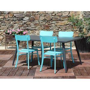 Salon de jardin MICA anthracite - Couleur - Bleu - Achat ...