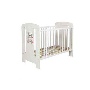 LIT BÉBÉ Lit bébé à barreaux 60x120 en bois blanc LT0004