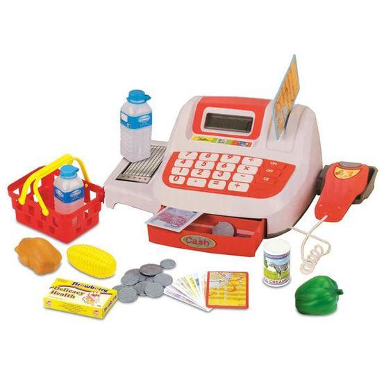 Électrique caisse panier jouets pour enfants caisse épicerie Accessoires Argent