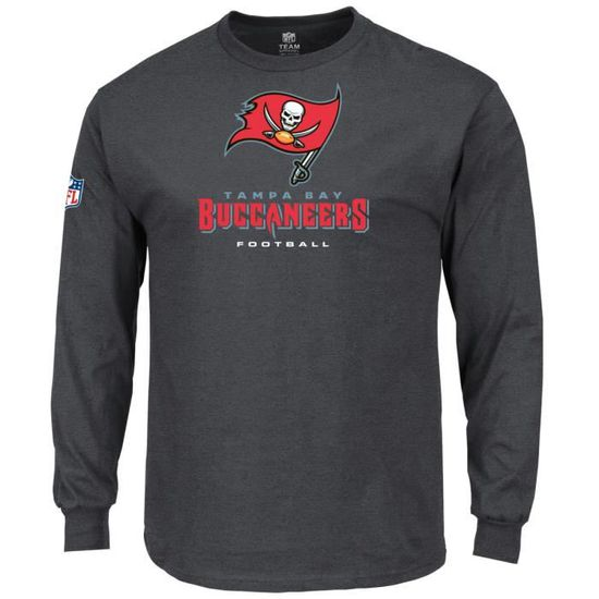 Majestic OUR TEAM Longsleeve - Tampa Bay Buccaneers charcoal Charcoal -  Achat   Vente t-shirt - Soldes  dès le 9 janvier ! Cdiscount c6ff58d595b2
