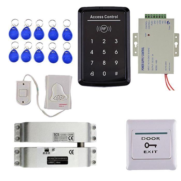 Rfid Kit Digicode Système Sécurité de Contrôle D'accès Porte Serrure Magnétique