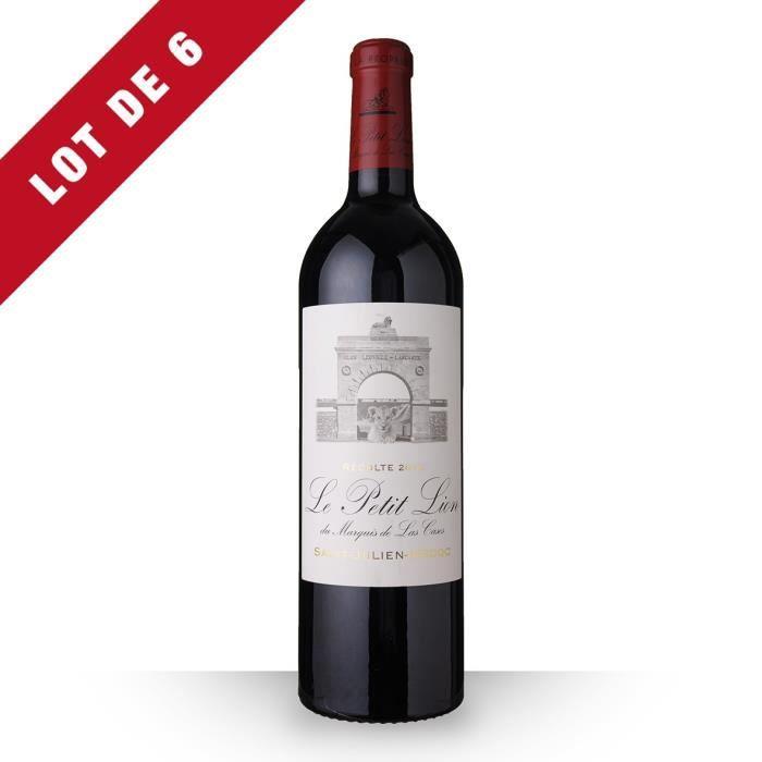 6X Le Petit Lion du Marquis de Las Cases 2012 Rouge 75cl AOC Saint-Julien - Vin Rouge